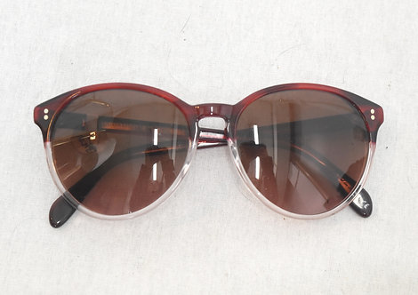 """Oliver Peoples Red & White """"Corie"""" Sunglasses"""
