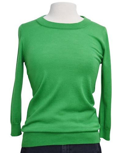 J. Crew Green Knit Sweater Size Small