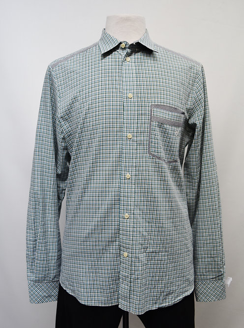 Alexander McQueen Blue & Green Plaid Shirt Size Medium
