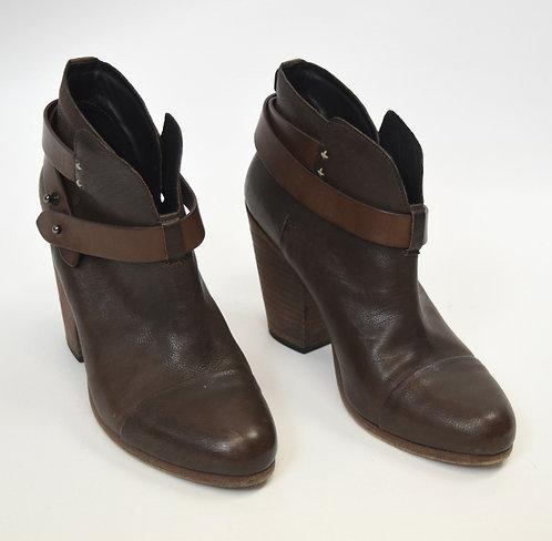 Rag & Bone Brown Leather Booties Size 8.5