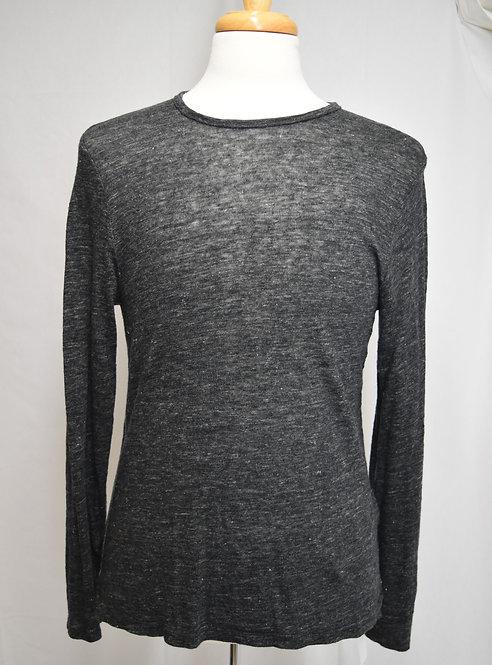 Rag & Bone Dark Gray Linen Sweater Size Large