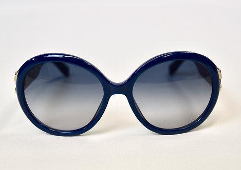 Ferragamo Blue Oversized Gradient Sunglasses