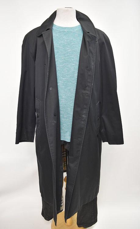 Burberry Black Overcoat Size Large (44)