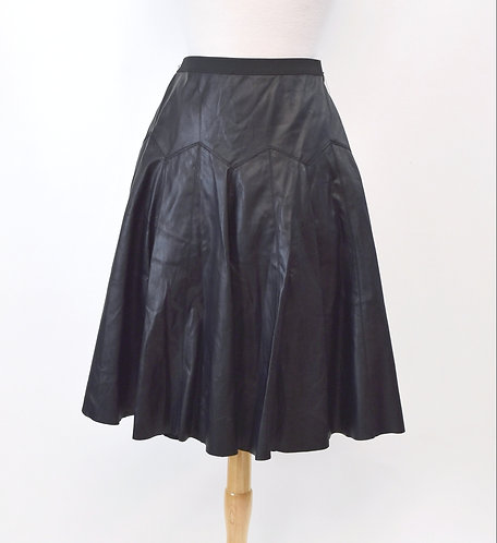 BCBG Black Faux Leather Skirt Size Small