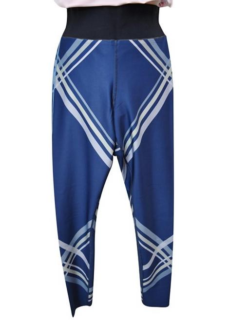 UltraCor Blue Stripe Leggings Size Medium
