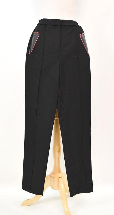 Alexander Wang Black Straight Leg Pants Size XS (2)