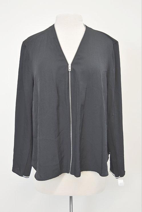 Rag & Bone Black Zip-Up Blouse Size Large