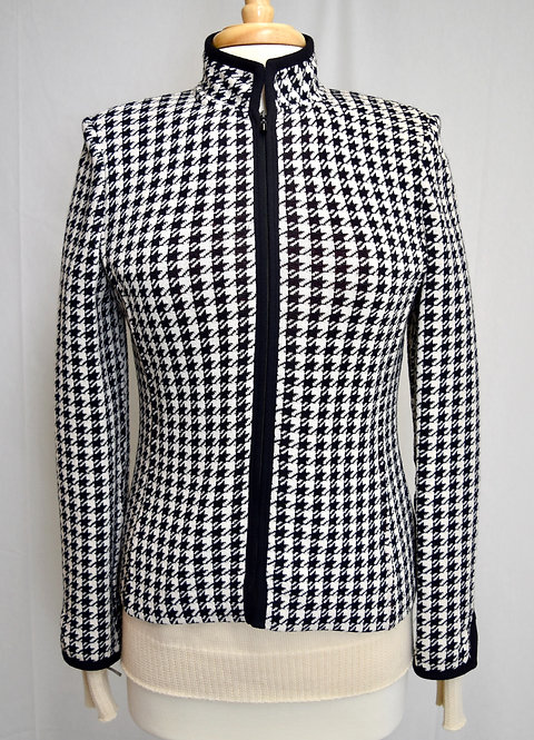 St. John Black & White Knit Jacket Size 4