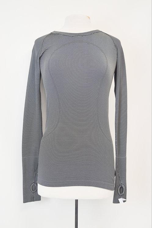 Lululemon Black Stripe Shirt Size Small (6)