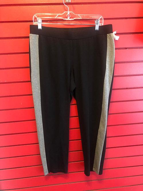 Eileen Fisher Black Stripe Leggings Size Large