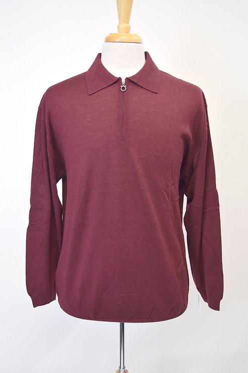 Salvatore Ferragamo Maroon Knit Sweater Size XL