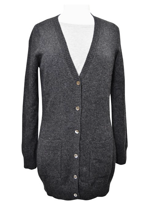 Neiman Marcus Charcoal Cashmere Cardigan Size XS