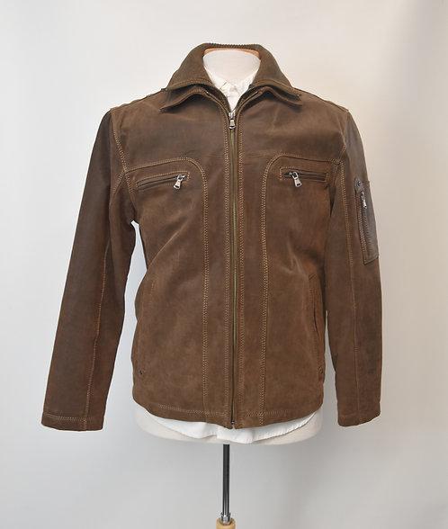 Roundtree & York Brown Leather Jacket Size Medium