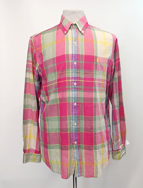 Ralph Lauren Pink Plaid Shirt Size Medium