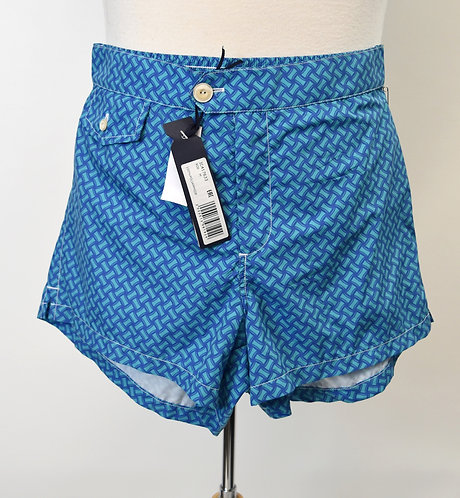 Drumohr Blue Print Swim Shorts Size Medium