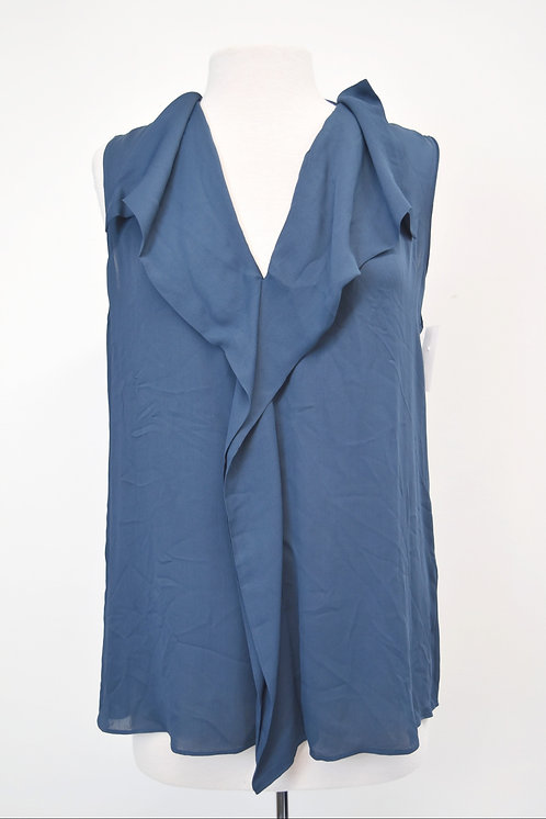 Reiss Blue Ruffle Top Size Medium (10)