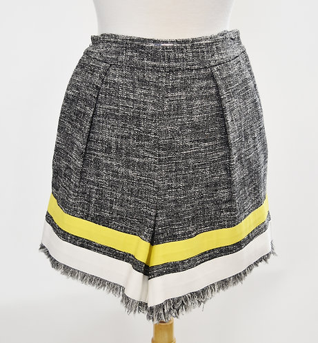 MSGM Black & White Tweed Shorts Size Small