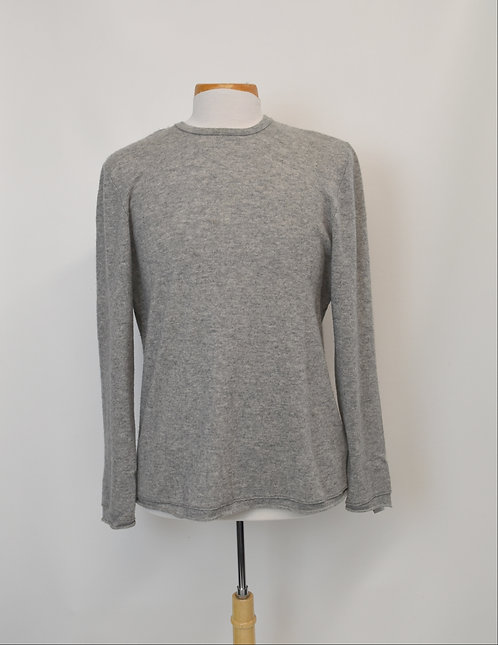 James Perse Gray Cashmere Sweater Size Large
