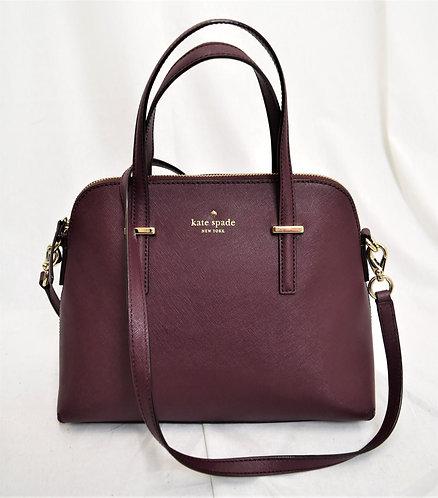 Kate Spade Burgundy Leather Crossbody Purse