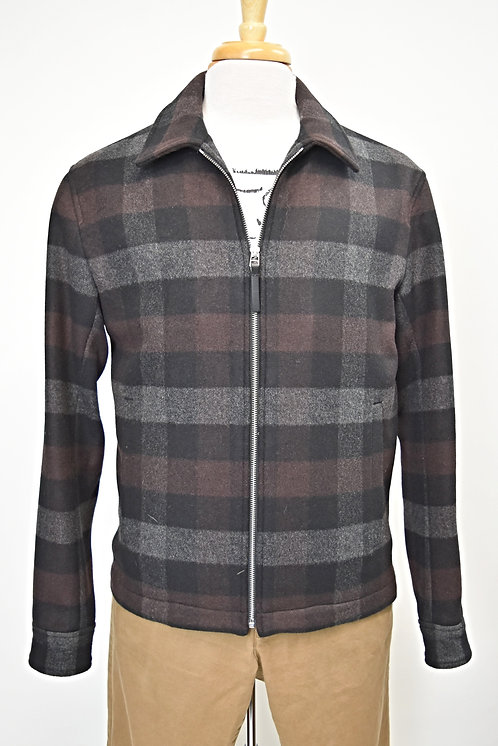Theory Gray Buffalo Check Jacket Size Medium