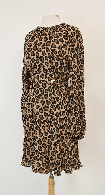 Tory Burch Tan Leopard Print Dress Size Medium (8/10)
