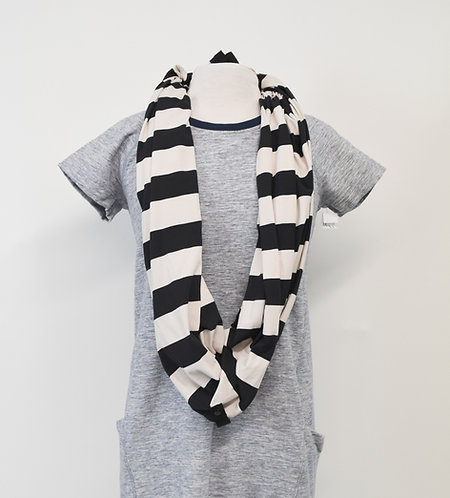 Lululemon Black & White Stripe Vinyasa Scarf