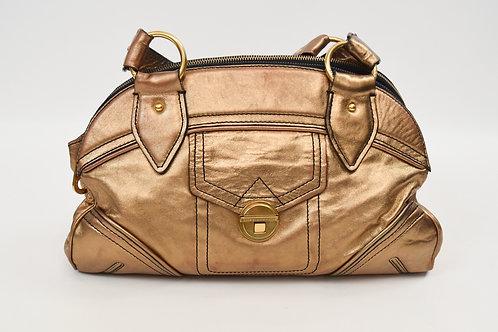 "Marc By Marc Jacobs ""Antique Gold"" Leather Shoulder Bag"