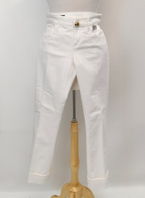 "Gucci White ""Skinny Flare"" Jeans Size Medium"