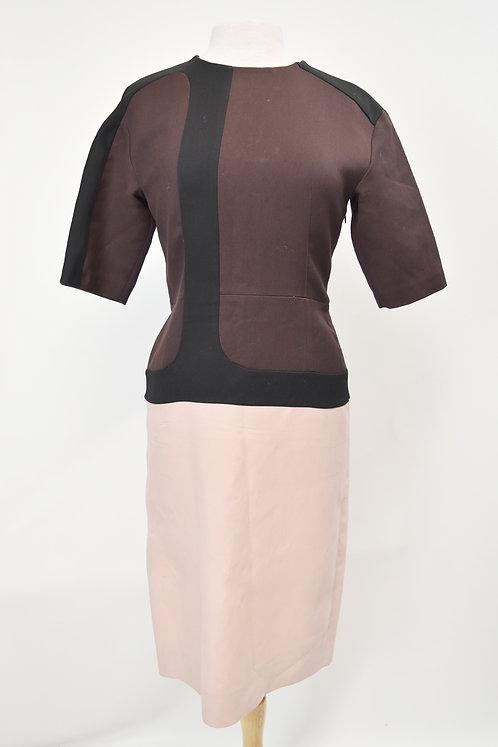 Marni Wine & Blush Pink Color-Block Dress Size Large
