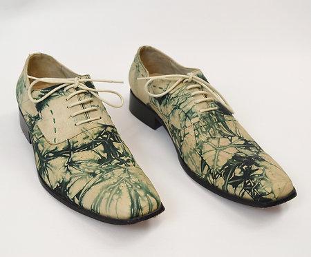 Paolo Iantorno Ivory & Green Dress Shoes Size 11