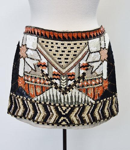 AllSaints Beaded Mini Skirt Size 4