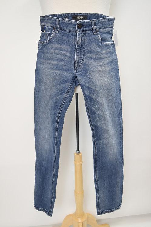 Fendi Medium Wash Skinny Jeans Size 30x34