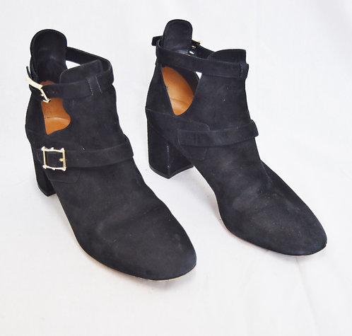 Valentino Black Suede Booties Size 9.5