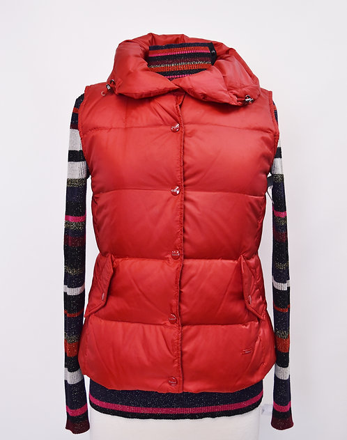 MaxMara Weekend Red Puffer Vest Size Small