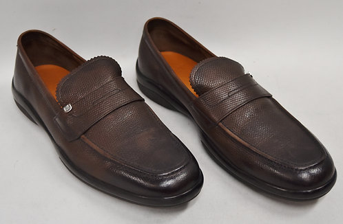 Bally Brown Leather Loafers Size 10