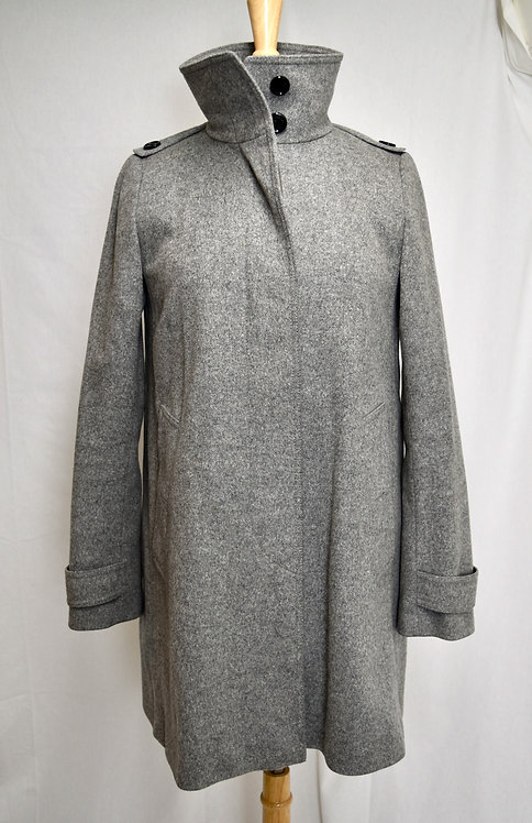 Burberry Gray Peacoat Size Small (4)