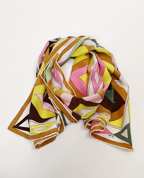 Fuilio Multi Colored Silk Scarf