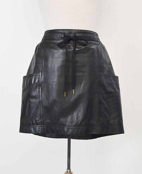 Marc By Marc Jacobs Black Leather Skirt Size Small (6)