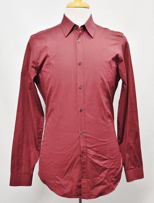 Gucci Maroon Dress Shirt Size Medium