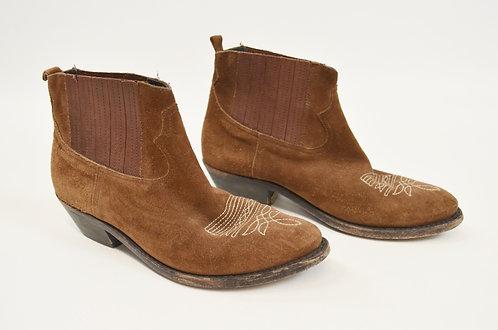 Golden Goose Deluxe Brand Brown Suede Booties Size 6.5