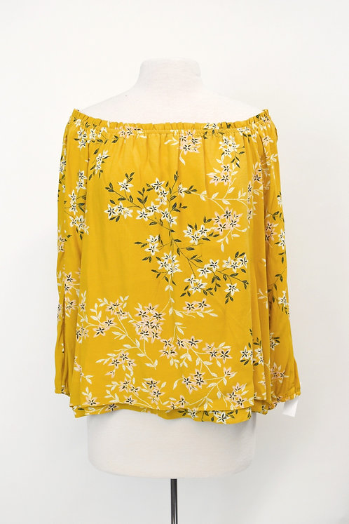 Sanctuary Yellow Floral Blouse Size Small