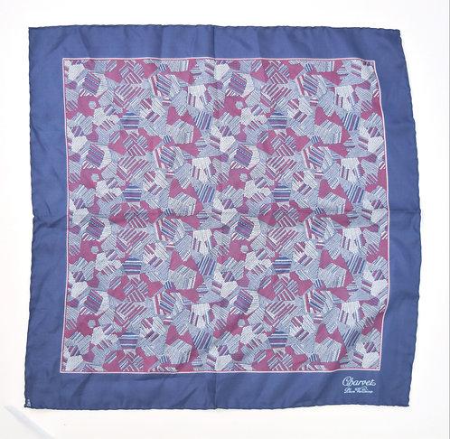 Charvet Blue & Purple Print Pocket Square