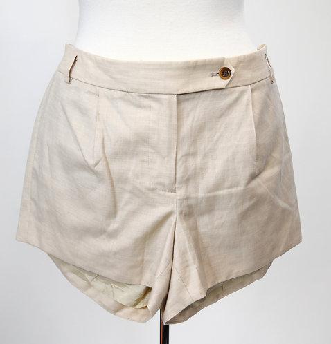 J. Crew Beige Wool & Linen Shorts Size 6