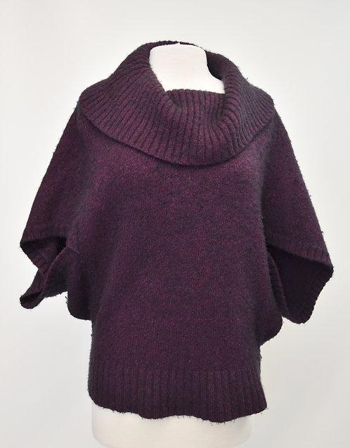 Eileen Fisher Dark Purple Knit Sweater Size Medium