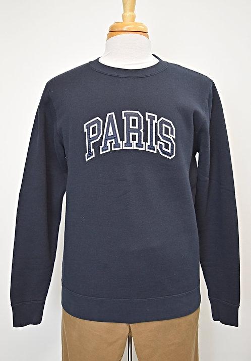 "Sandro Navy ""Paris"" Sweatshirt Size Medium"