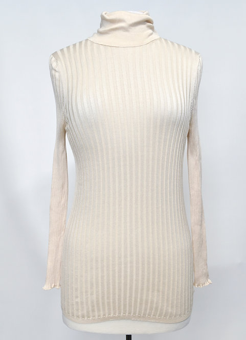 Gucci Ivory ribbed Knit Sweater Size Medium