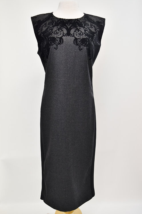 Roberto Cavalli Black & Gray Dress Size Medium