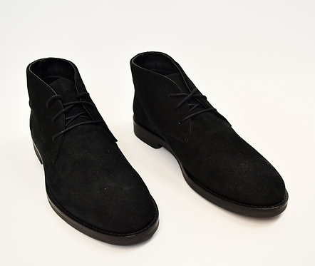 A. Testoni Black Suede Boots Size 11.5