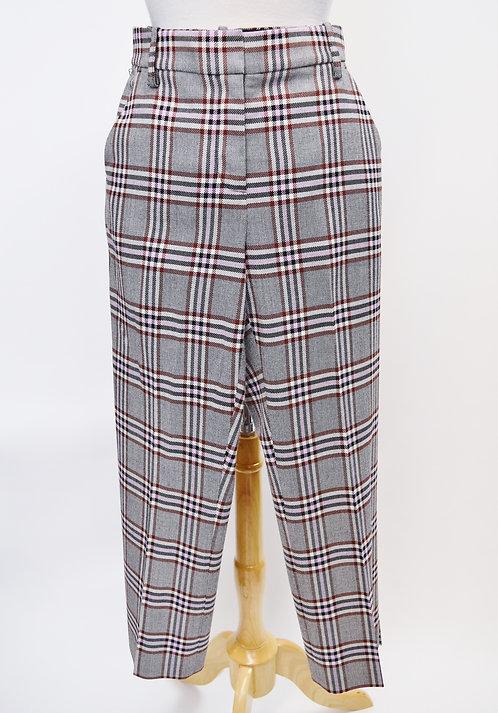 10 Crosby Derek Lam Gray/Purple Plaid Pants Size 2