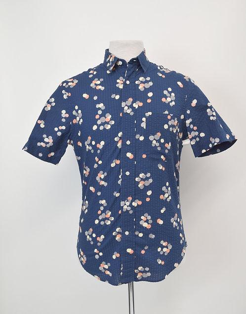 Gitman Bros Navy Apple Print Shirt Size Small